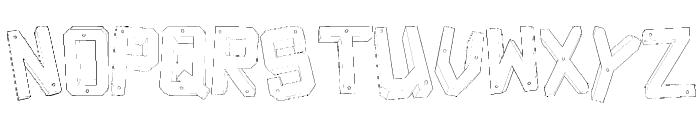 Decade 3d Font UPPERCASE