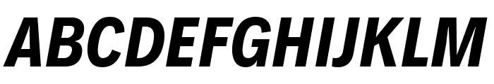 Decalotype Bold Italic Font UPPERCASE
