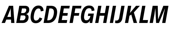 Decalotype SemiBold Italic Font UPPERCASE