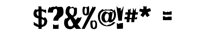 Decaying Font OTHER CHARS