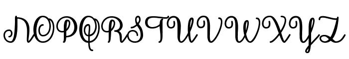 December Calligraphy Font UPPERCASE