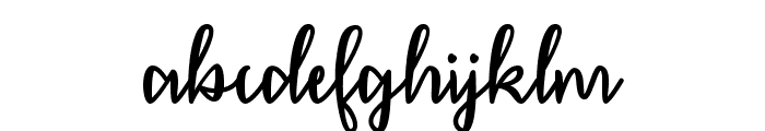 December Calligraphy Font LOWERCASE