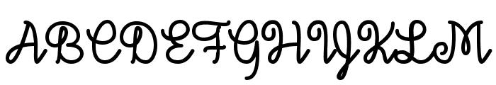 December Sky Font Font UPPERCASE