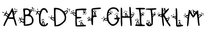 DeckTheHalls Font UPPERCASE