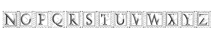 Deco Stamp Font UPPERCASE
