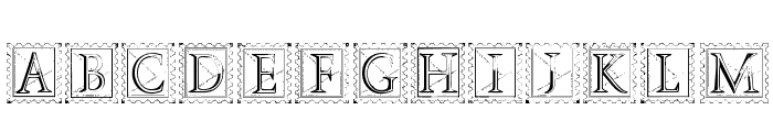 Deco Stamp Font LOWERCASE