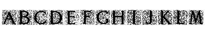 Decorated Roman Initials Font UPPERCASE