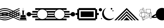 Decorative Elements JL Font UPPERCASE