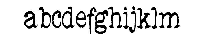 DedEnd-Regular Font LOWERCASE