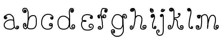 DeeDeeScribble Font LOWERCASE