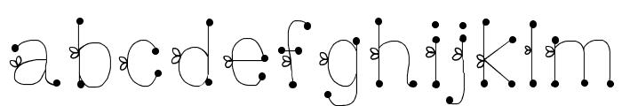 DeeDeeSquigglesAndTies Font LOWERCASE