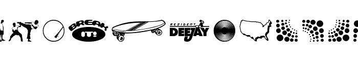 Deejay Supreme Font UPPERCASE