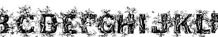 DeepWoodsInitials Font UPPERCASE