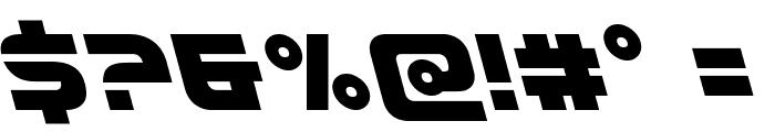 Defcon Zero Leftalic Font OTHER CHARS