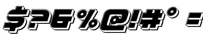 Defcon Zero Punch Italic Font OTHER CHARS