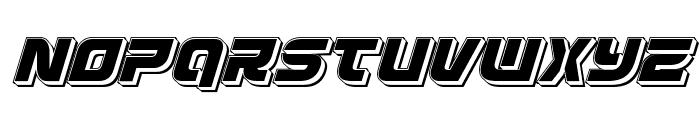 Defcon Zero Punch Italic Font LOWERCASE