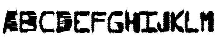 Degraded Chip Creep Font UPPERCASE