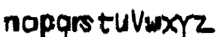 Degraded Chip Creep Font LOWERCASE