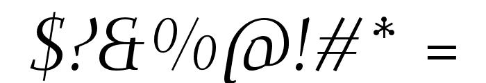 Dehuti Alt Italic Font OTHER CHARS