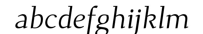 Dehuti Alt Italic Font LOWERCASE