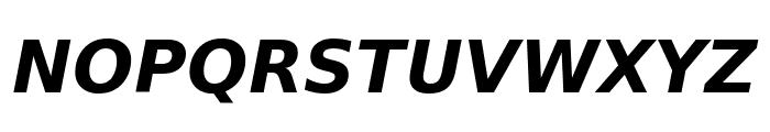 DejaVu Sans Bold Oblique Font UPPERCASE