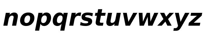 DejaVu Sans Bold Oblique Font LOWERCASE