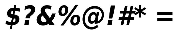 DejaVu Sans Condensed Bold Oblique Font OTHER CHARS