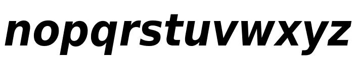 DejaVu Sans Condensed Bold Oblique Font LOWERCASE