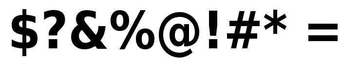 DejaVu Sans Condensed Bold Font OTHER CHARS