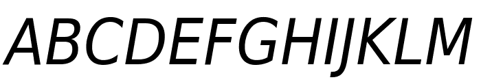 DejaVu Sans Condensed Oblique Font UPPERCASE