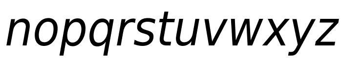 DejaVu Sans Condensed Oblique Font LOWERCASE