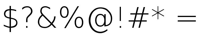 DejaVu Sans ExtraLight Font OTHER CHARS