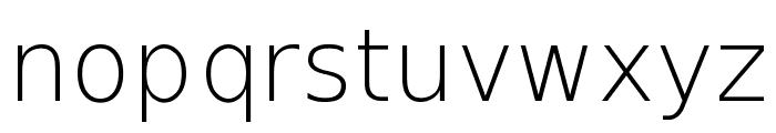 DejaVu Sans ExtraLight Font LOWERCASE