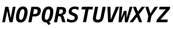 DejaVu Sans Mono Bold Oblique Font UPPERCASE