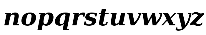 DejaVu Serif Bold Italic Font LOWERCASE