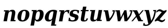 DejaVu Serif Condensed Bold Italic Font LOWERCASE