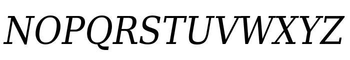 DejaVu Serif Condensed Italic Font UPPERCASE