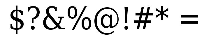 DejaVu Serif Condensed Font OTHER CHARS