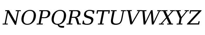DejaVu Serif Italic Font UPPERCASE
