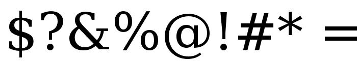DejaVu Serif Font OTHER CHARS