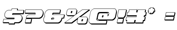 Dekaranger 3D Italic Font OTHER CHARS
