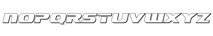 Dekaranger 3D Italic Font UPPERCASE