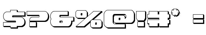 Dekaranger 3D Font OTHER CHARS