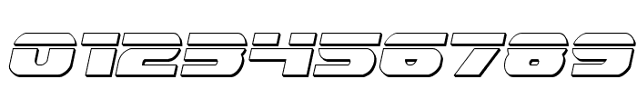 Dekaranger Bullet Italic Font OTHER CHARS