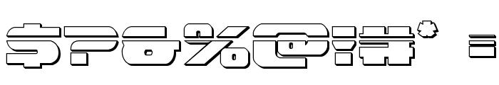 Dekaranger Bullet Font OTHER CHARS