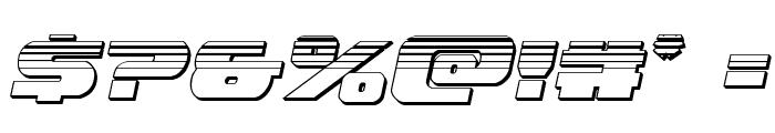 Dekaranger Chrome Italic Font OTHER CHARS