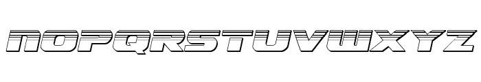 Dekaranger Chrome Italic Font UPPERCASE