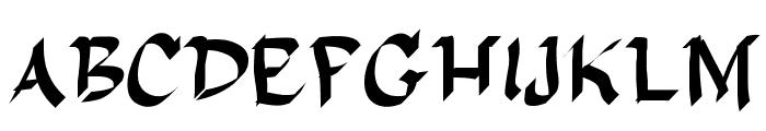 DelaGarza Font UPPERCASE