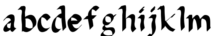DelaGarza Font LOWERCASE