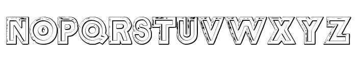 DelamotteLargeRelief Beveled Font UPPERCASE